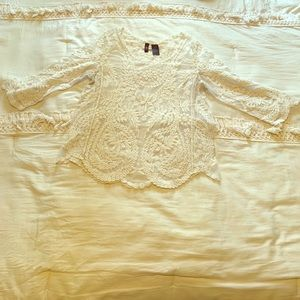 Beautiful cream lacey top